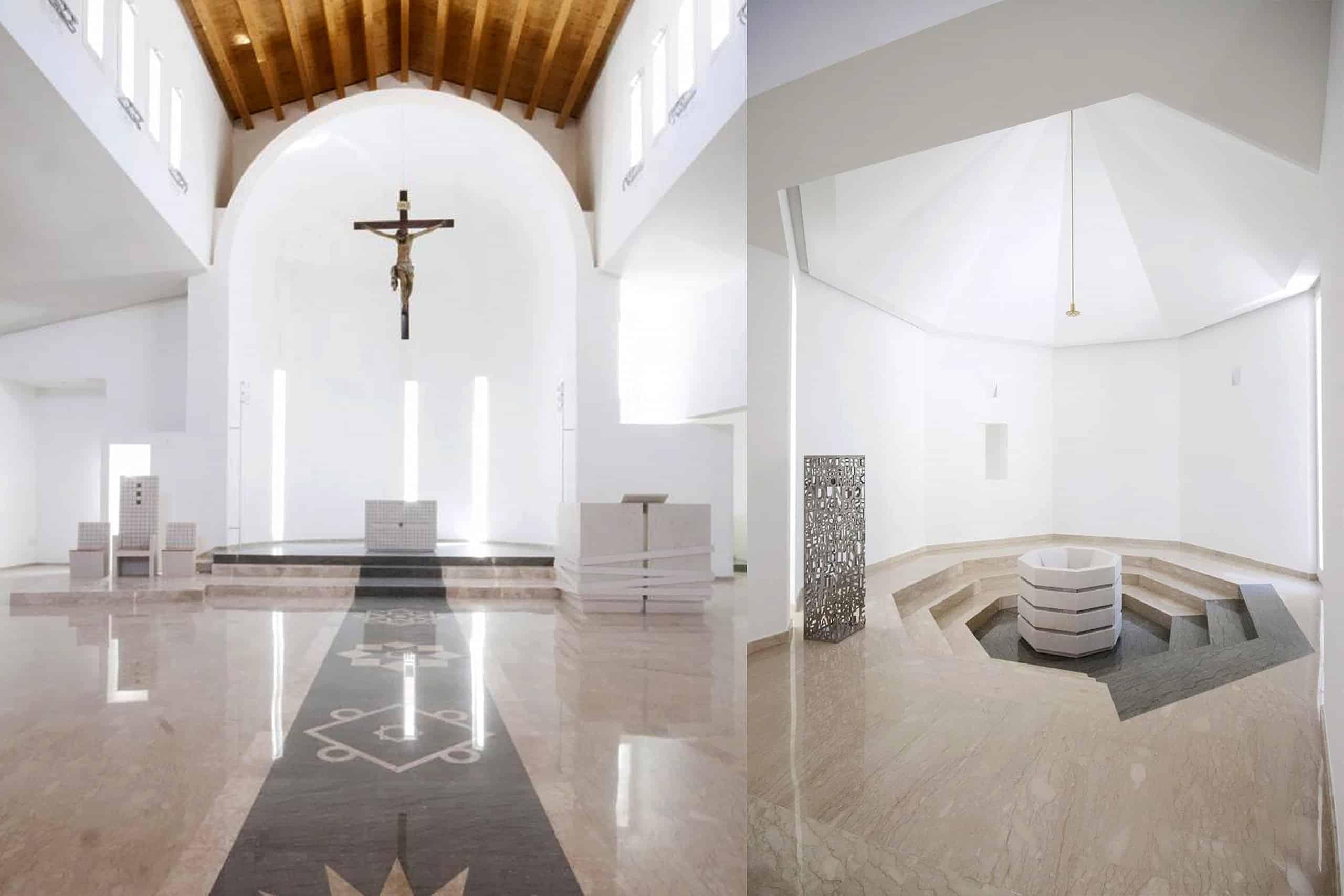 arredi sacri in marmo nella chiesa madonna di fatima